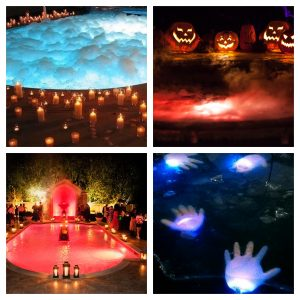 holiday pool decorating halloween