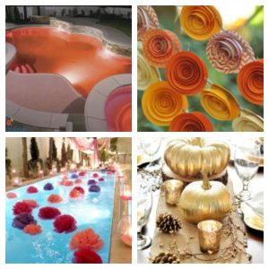 Holiday Pool Decorations for Thanksgiving