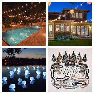 Winter and NYE decor for your pool and backyard