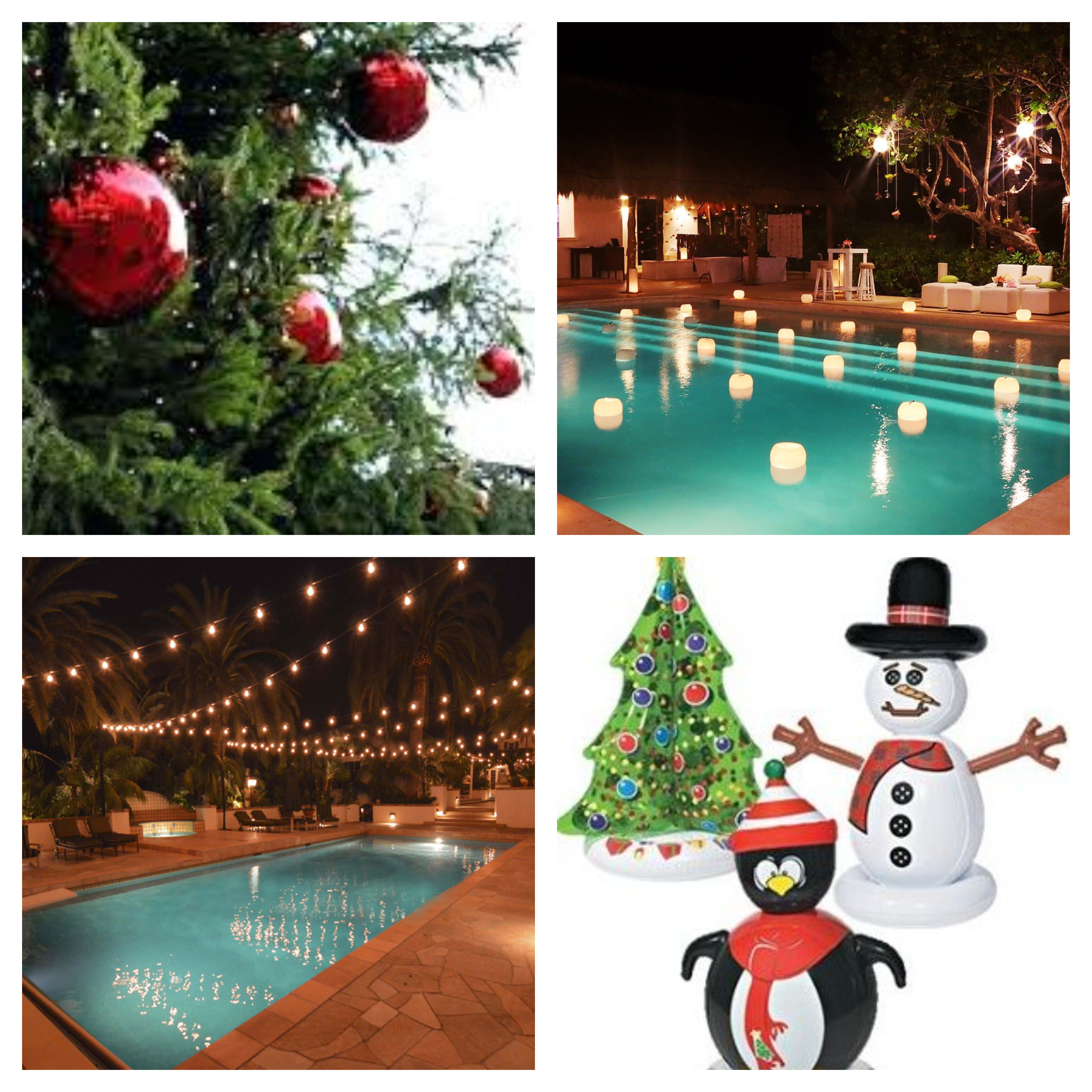 Winter Holiday Outdoor Decor for Your Central Florida Pool ... on